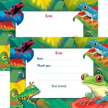 Tree Frog Personalized Thank You Note (each)