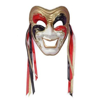 Tri Color Comedy Mask