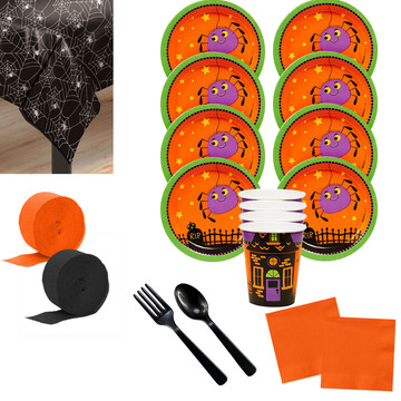 Trick or Treat Halloween Deluxe Tableware Kit (Serves 8)
