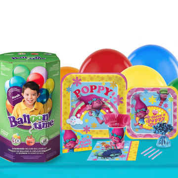 Trolls 16 Guest Party Pack and Helium Kit