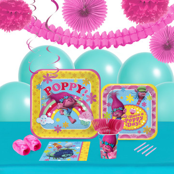 Trolls 16 Guest Tableware Deco Kit