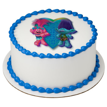 "Trolls 7.5"" Round Edible Cake Topper (Each)"