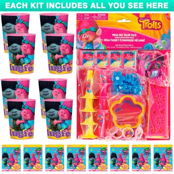 Trolls Favor Kit (For 8 Guests)