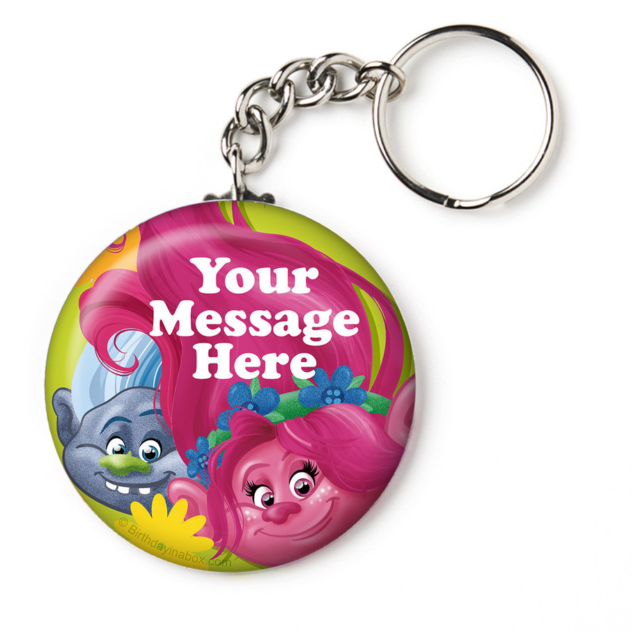 """View larger image of Trolls Party Personalized 2.25"""" Key Chain (Each)"""