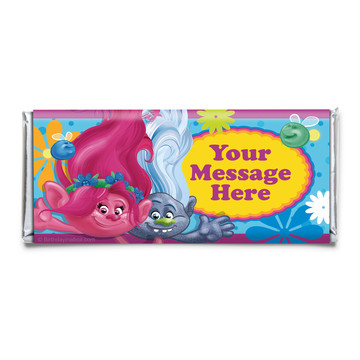 Trolls Party Personalized Candy Bar Wrapper (Each)