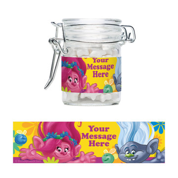 Trolls Party Personalized Swing Top Apothecary Jars (12 ct)