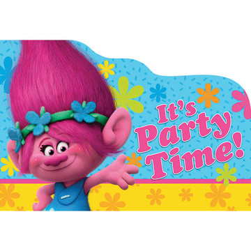 Trolls Postcard Invitations (8 Count)