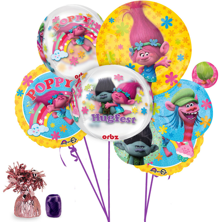 View larger image of Trolls Ultimate Balloon Bouquet Kit