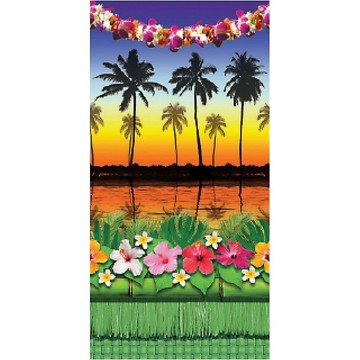 Tropical Luau Sunset 5' x 5' Backdrop
