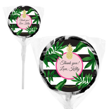 "Tropical Pineapple Personalized 2"" Lollipops (20 Pack)"