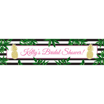 Tropical Pineapple Personalized Banner (Each)