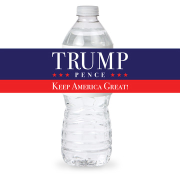 TRUMP PENCE Keep America Great Bottle Label (Sheet of 4)