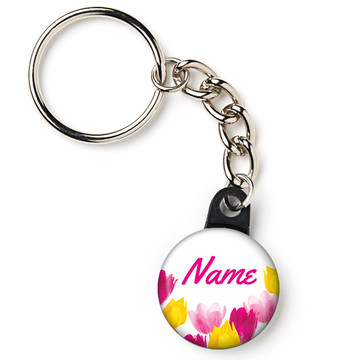"Tulips Personalized 1"" Mini Key Chain (Each)"