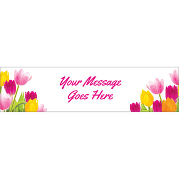 Tulips Personalized Banner (Each)