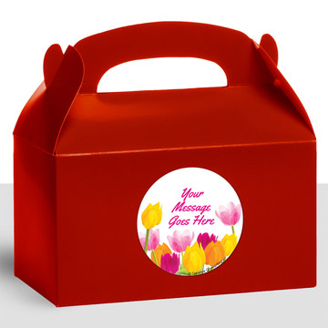 Tulips Personalized Treat Favor Boxes (12 Count)