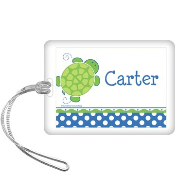Turtle Party Personalized Bag Tag (each)