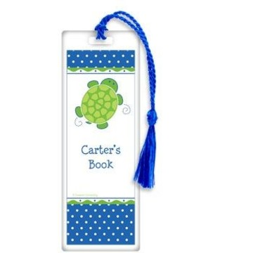 Turtle Party Personalized Bookmark (each)
