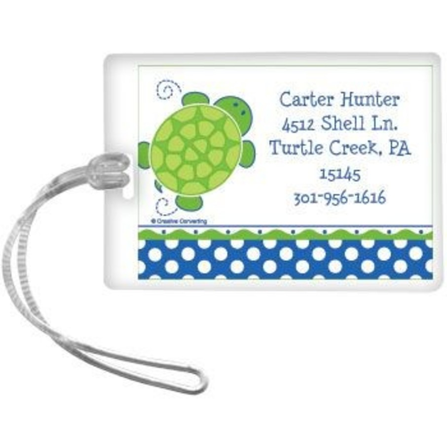 View larger image of Turtle Party Personalized Luggage Tag (each)
