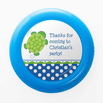 Turtle Party Personalized Mini Discs (Set of 12)