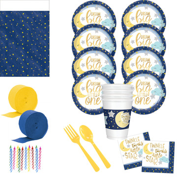 Twinkle Little Star Deluxe Tableware Kit (Serves 24)