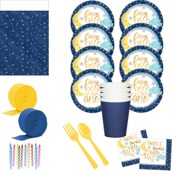 Twinkle Little Star Deluxe Tableware Kit (Serves 8)