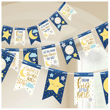 Twinkle Little Star Pennant Banner