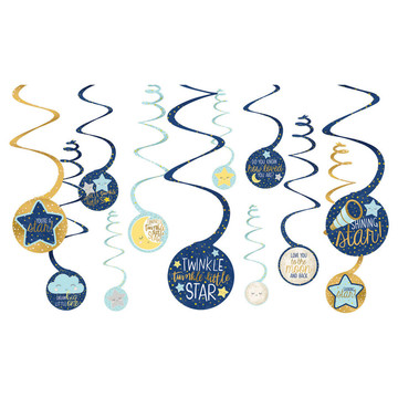 Twinkle Little Star Swirl Decorations (12)