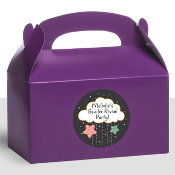 Twinkle Twinkle How We Wonder Gender Reveal Personalized Treat Favor Boxes (12 Count)
