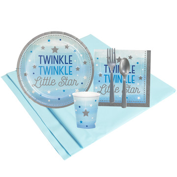 Twinkle Twinkle Little Star Blue 8 Guest Party Pack