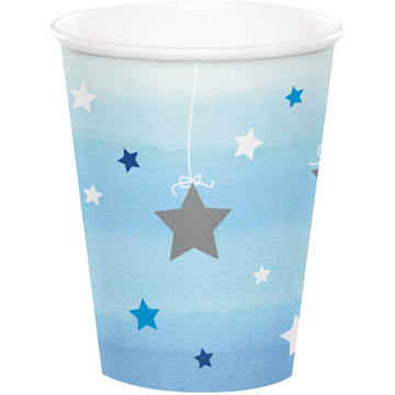 Twinkle Twinkle Little Star Blue 9oz Paper Cups (8)
