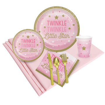 Twinkle Twinkle Little Star Pink 24 Guest Party Pack