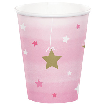 Twinkle Twinkle Little Star Pink 9oz Paper Cups (8)