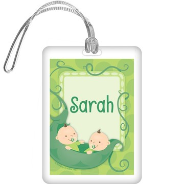 Twin's 1st Birthday Personalized Bag Tag (each)