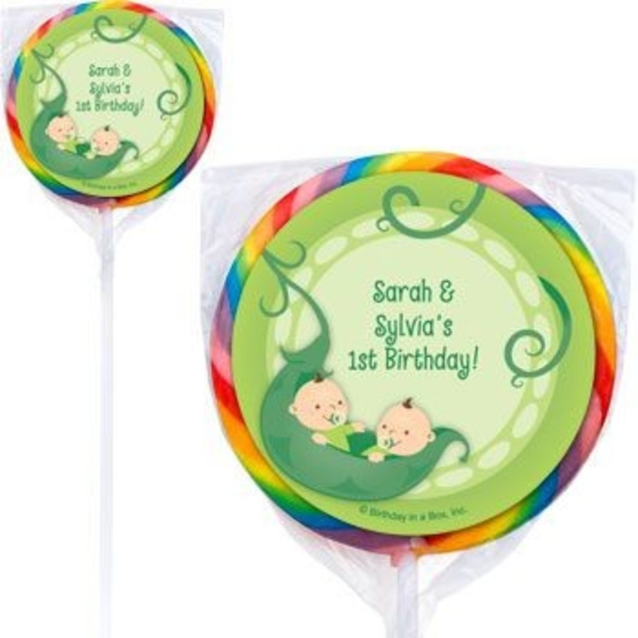View larger image of Twin's 1st Birthday Personalized Lollipops (pack of 12)