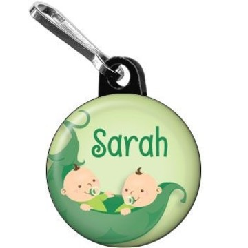 Twin's 1st Birthday Personalized Mini Zipper Pull (each)