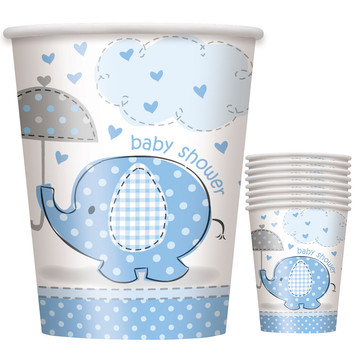 Umbrellaphants Blue 9 oz Cups (8 Count)