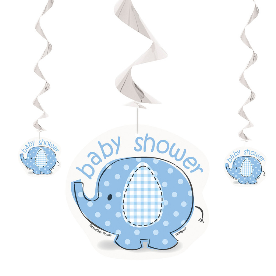 View larger image of Umbrellaphants Blue Hanging Swirl Decorations (3 Count)