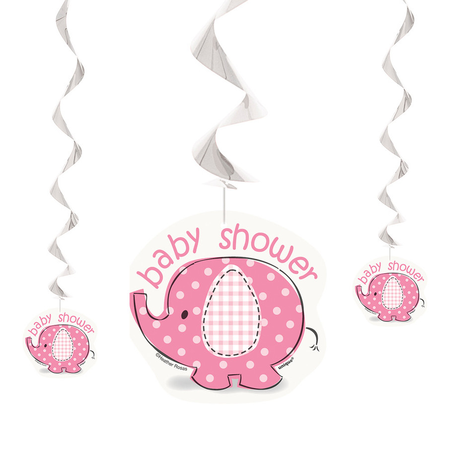 View larger image of Umbrellaphants Pink Hanging Swirl Decorations (3 Count)