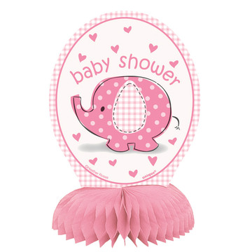 Umbrellaphants Pink Mini Honeycomb Decorations (4 Count)