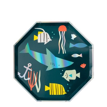 Under The Sea Dessert Plates, 8ct