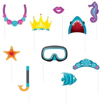 Under the Sea Photo Props Set (10 Pack)