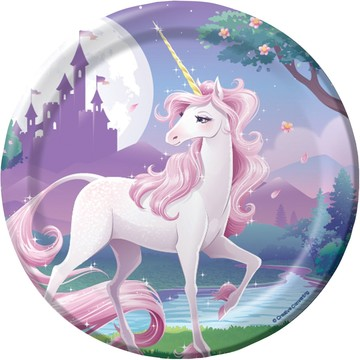 "Unicorn Fantasy 7"" Cake Plates (8 Pack)"