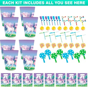 Unicorn Fantasy favor Kit (For 8 Guests)