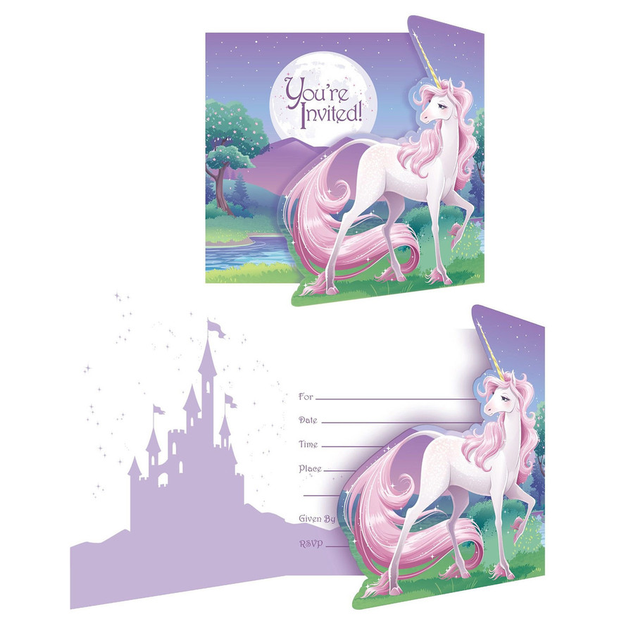 View larger image of Unicorn Fantasy Invitations (8 Pack)