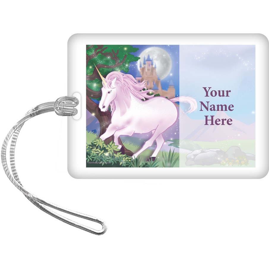 View larger image of Unicorn Fun Personalized Bag Tag (Each)