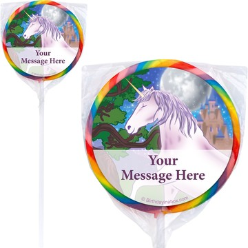Unicorn Fun Personalized Lollipops (12 Pack)