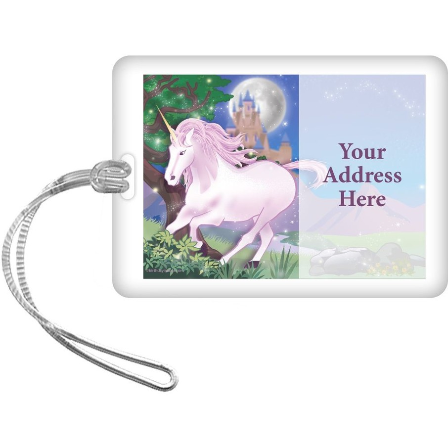 View larger image of Unicorn Fun Personalized Luggage Tag (Each)