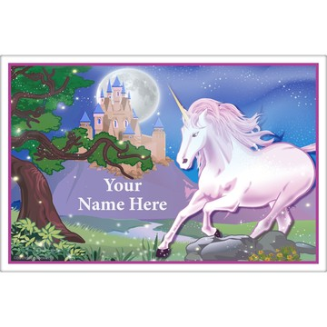 Unicorn Fun Personalized Placemat (Each)