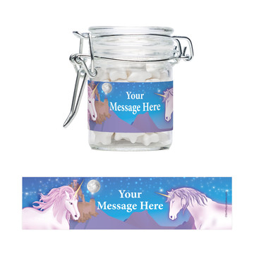 Unicorn Fun Personalized Swing Top Apothecary Jars (12 ct)
