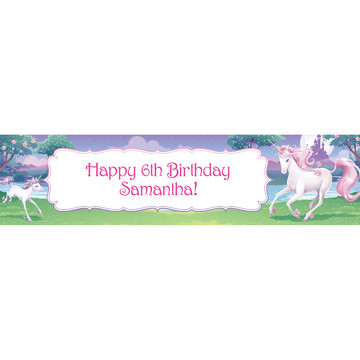 Unicorn Personalized Banner (Each)